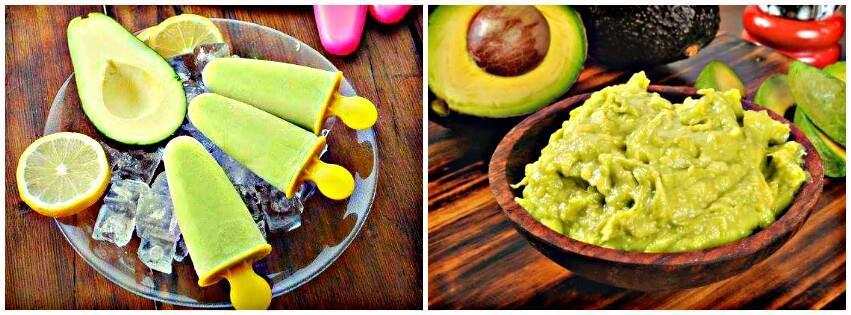picolé e creme de abacate