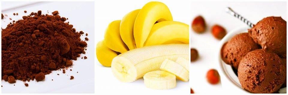sorvete de banana e cacau anti tpm