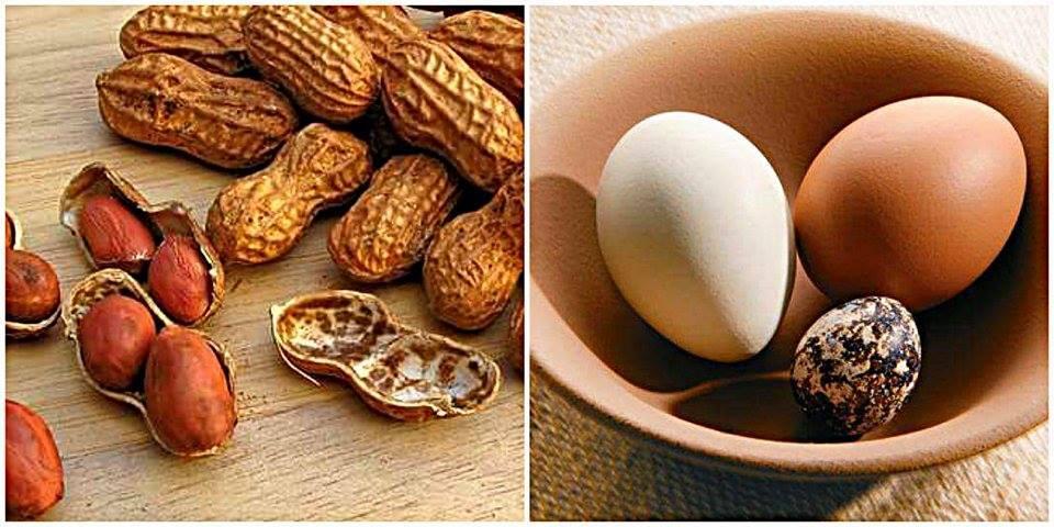 amendoim-ovos-afrodisíacos
