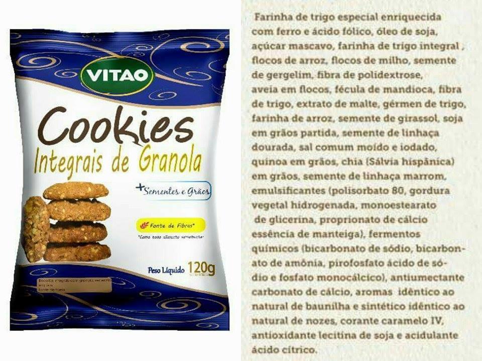 Cookie vitao integral granola e sementes