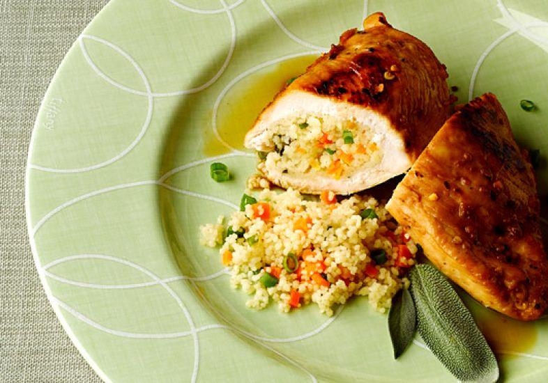 peito de frango com cuscuz marroquino