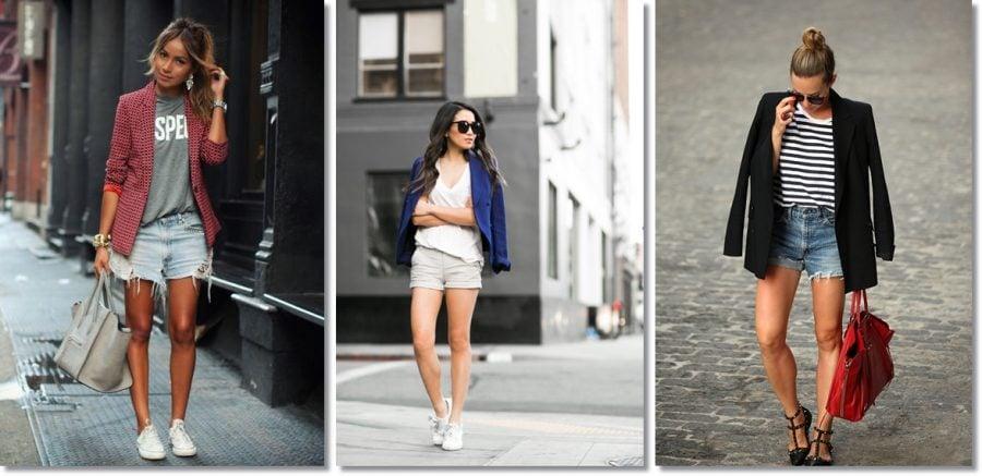 como usar blazer - shorts 2