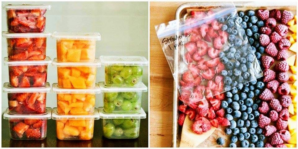 Congelamento de frutas