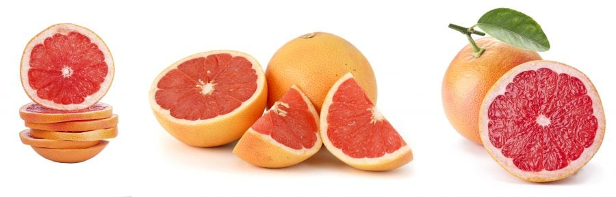 Sliced grapefruit and slide the top piece