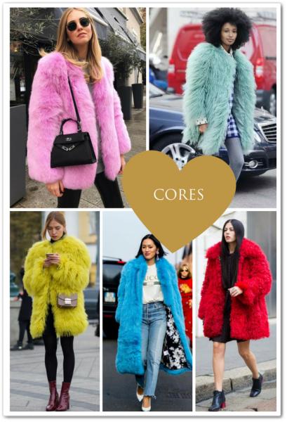 casaco de pele - cores