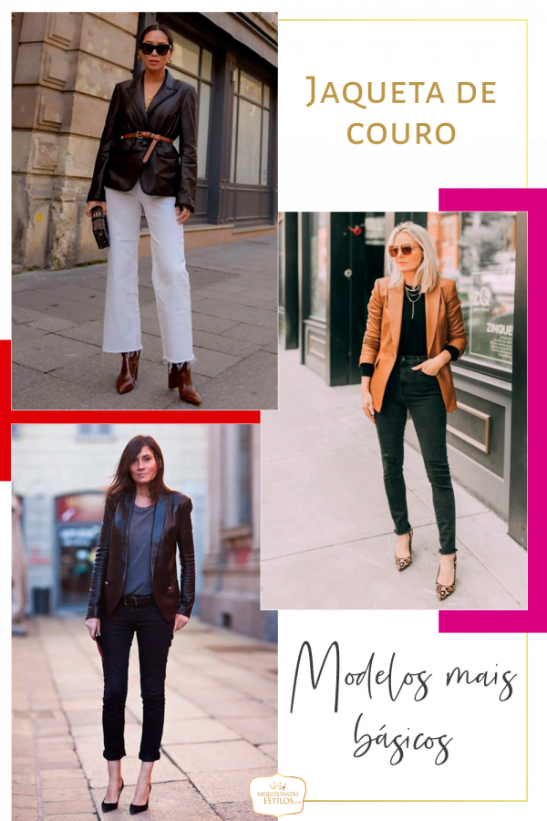 modelos jaqueta de couro