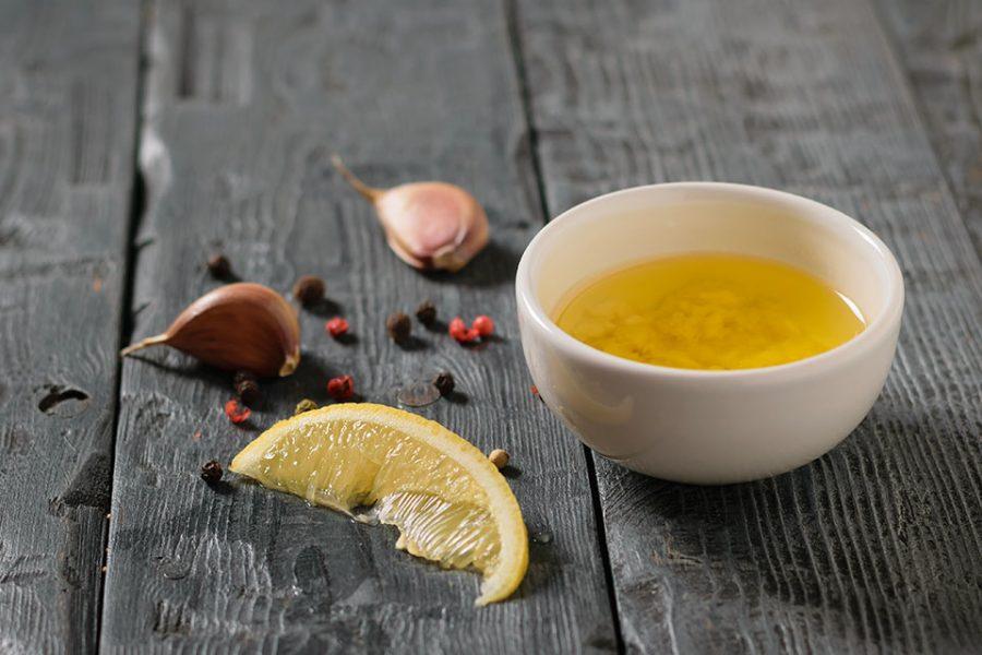 Molho para salada alho e limão