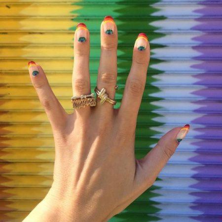 Decoração espaço negativo arco íris